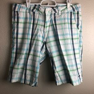O'Neill Blue Plaid Bermuda Shorts 11